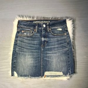 American Eagle Outfitters Distressed Jean Skirt